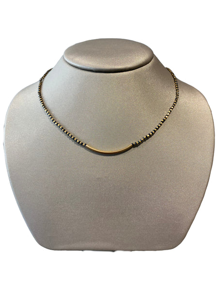 ALTERNATING BLACK & YELLOW BAR NECKLACE