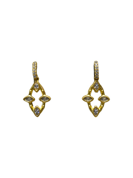 OPEN MARQUISE DROP EARRINGS