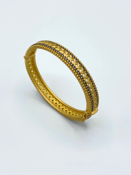 LATTICE WOVEN BANGLE BRACELET