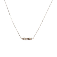 CLUSTER DIAMOND BAR NECKLACE
