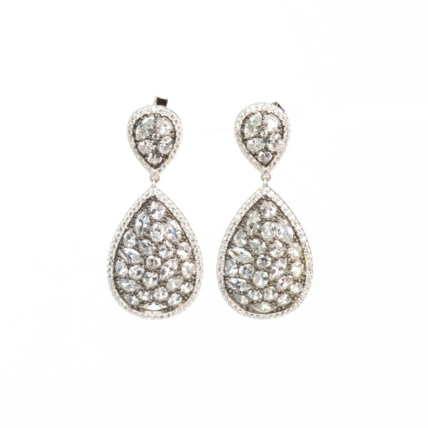 DOUBLE TEARDROP EARRING