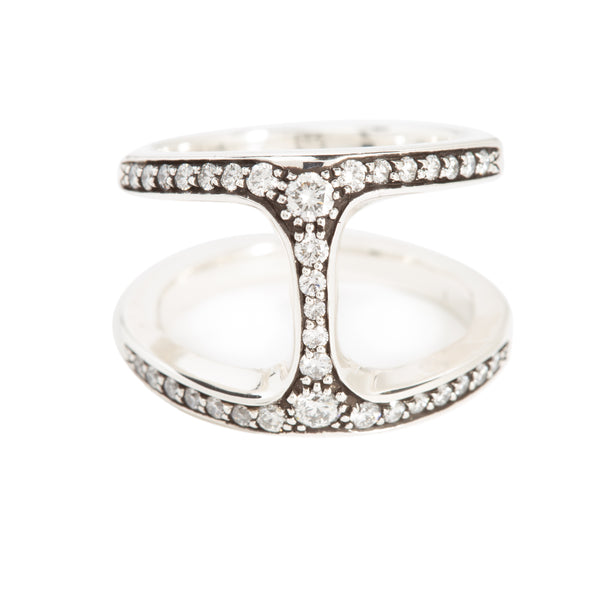 DAME PHANTOM RING WITH DIAMONDS