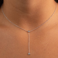 DIAMOND BEZEL LARIAT NECKLACE