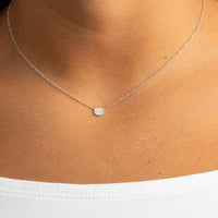 MINI DIAMOND DISC NECKLACE