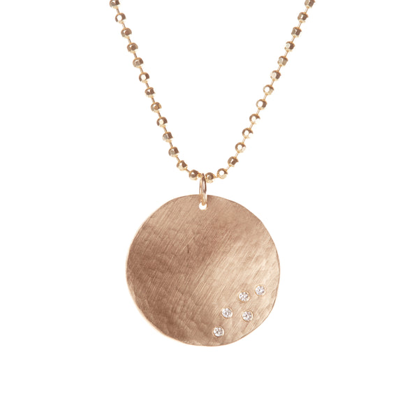 LARGE TEXTURED DISC PENDANT