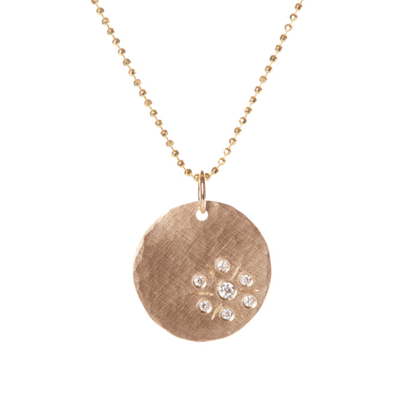 MINI DISC PENDANT WITH DIAMONDS