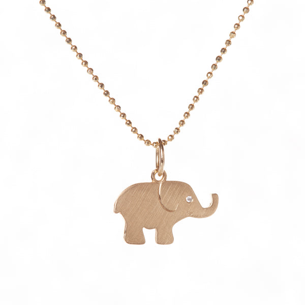 PLAIN GOLD ELEPHANT PENDANT