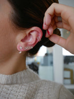 TRIPLE SPIRAL DIAMOND EAR CUFF