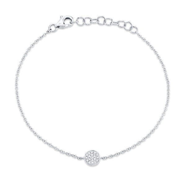 ROUND PAVE DIAMOND DISC BRACELET