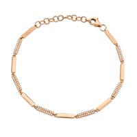 ALTERNATING DIAMOND BAR BRACELET