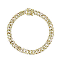 PAVE DIAMOND CURB LINK CHAIN BRACELET