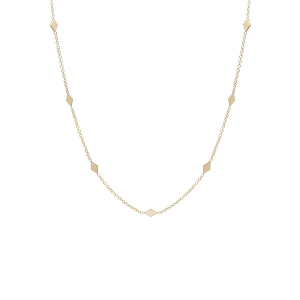 DIAMOND SHAPE CHOKER NECKLACE