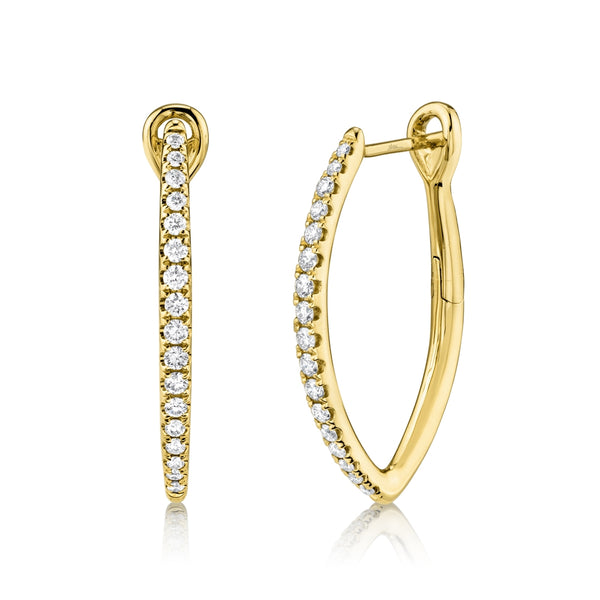 MARQUISE SHAPE DIAMOND HOOP EARRINGS