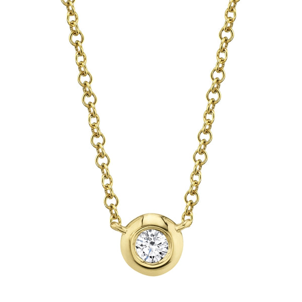 SINGLE BEZEL SET DIAMOND NECKLACE