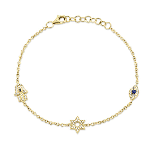 TRIPLE CHARM DIAMOND BRACELET