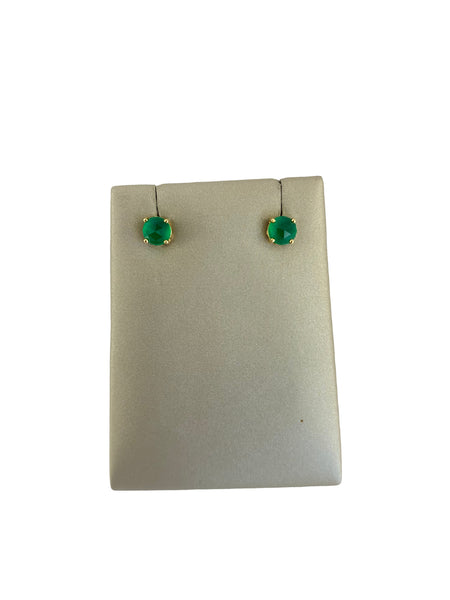 GREEN ONYX STUD EARRINGS