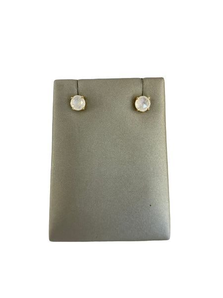 MINI MOONSTONE STUD EARRINGS