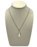 EXTRA LONG CHALCEDONY DROP NECKLACE