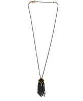 OXIDIZED BEAD NECKLACE WITH TASSEL