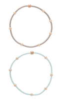 """E""SSENTIALS GOLD BEAD HAIR-TIE BRACELET"