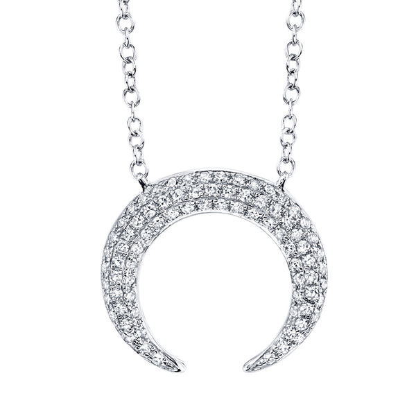 CRESCENT PENDANT NECKLACE WITH DIAMOND