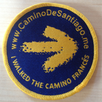 """I walked the Camino Frances"" badge"
