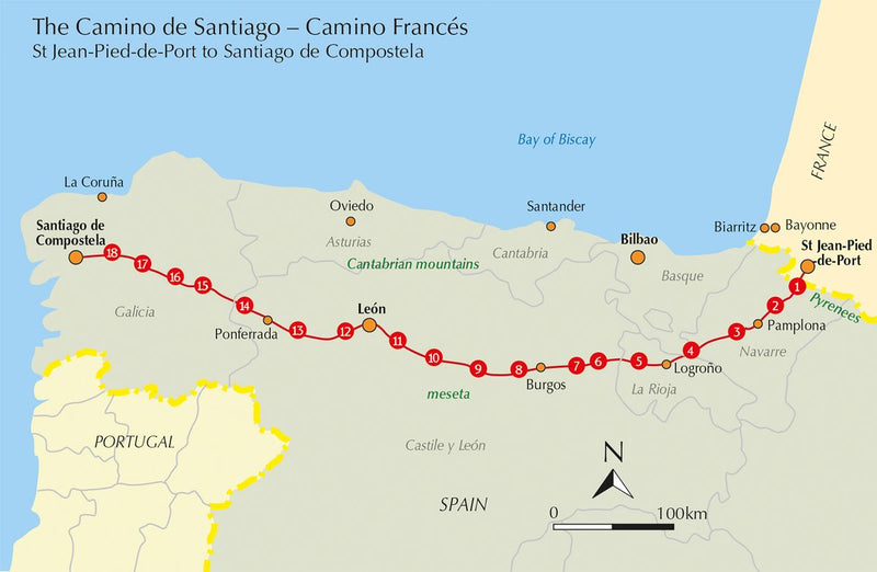 Cycling the Camino de Santiago The Way of St James - Camino Frances (W/FREE Passport)
