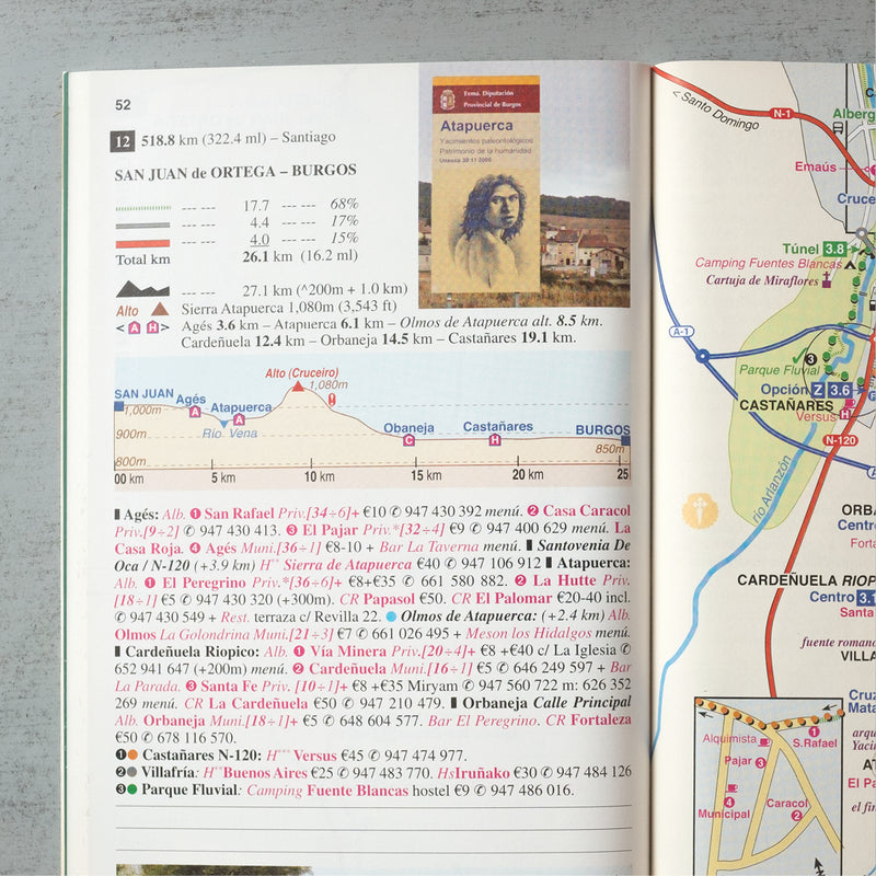 2019 edition: Maps Only Guide to the Camino Francés