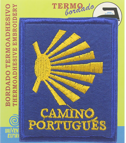Camino Portugues square shell badge