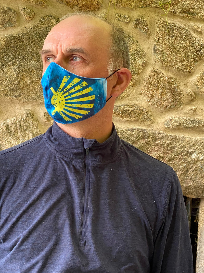 Reusable Camino de Santiago Mask (Shell and Camino design)
