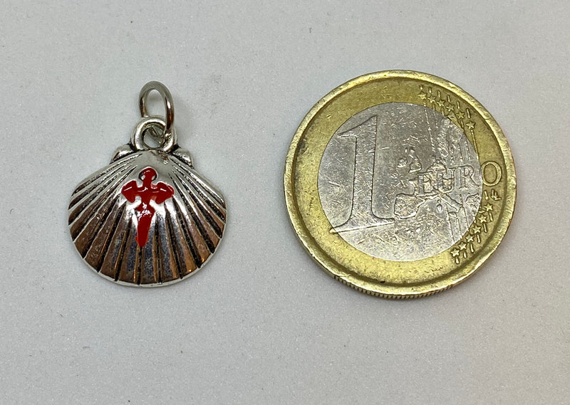 Camino Shell pendant with Santiago Cross