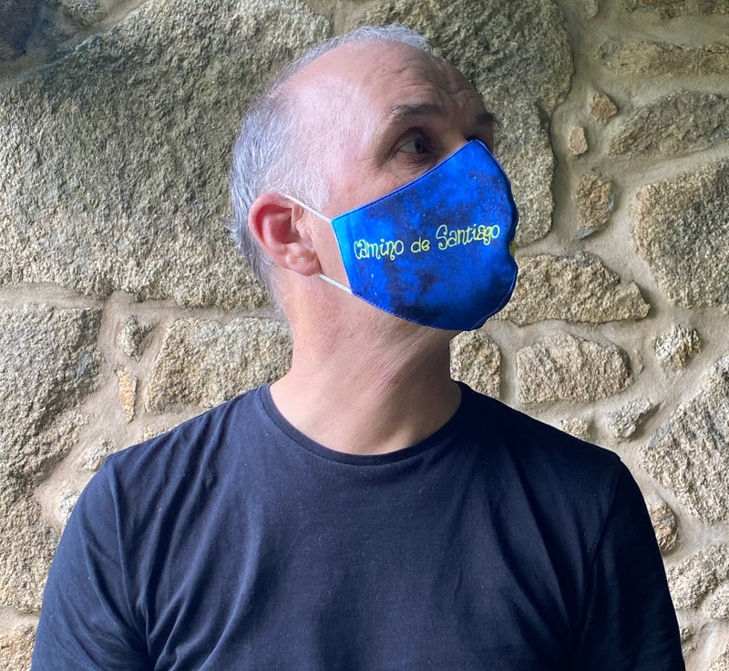 Reusable Camino de Santiago Mask (Camino + Arrow)