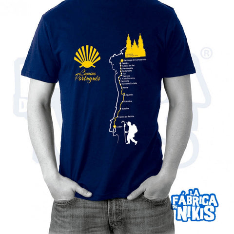 Camino de Portugués T-Shirt (dark blue/black)
