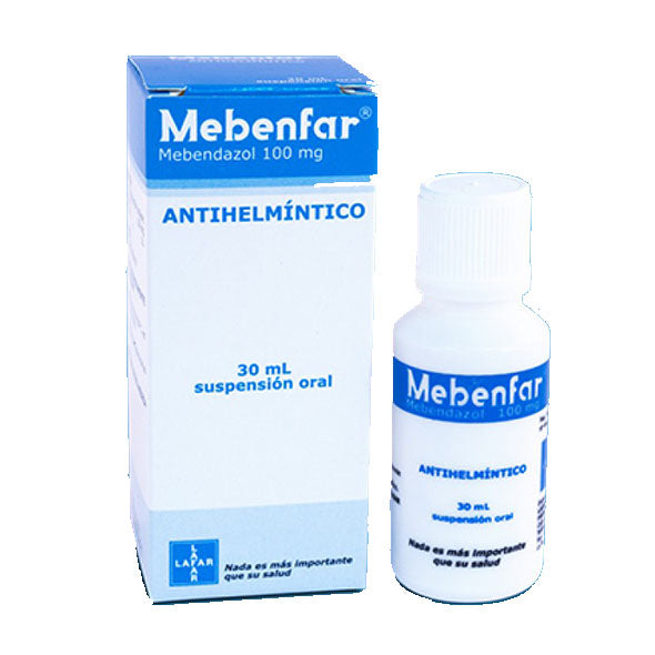Mebenfar 100Mg 5Ml Suspension X 30Ml Mebendazol