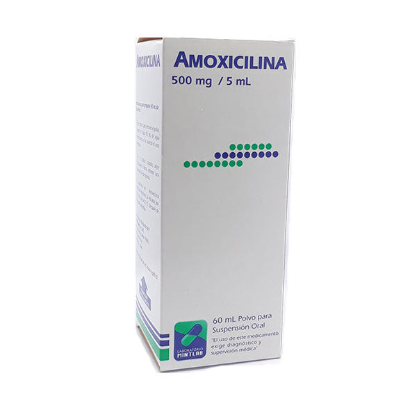 Amoxicilina 500Mg 5Ml Suspension X 60Ml