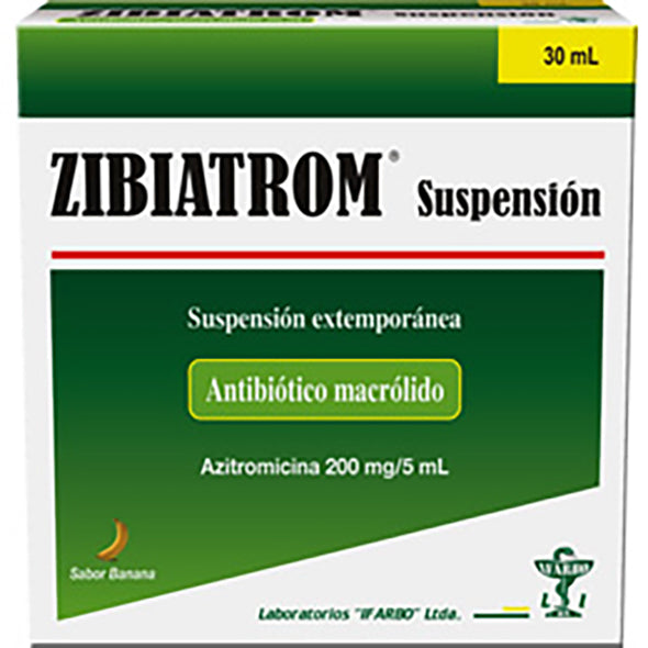Zibiatrom 200Mg 5Ml Suspension X 30Ml Azitromicina