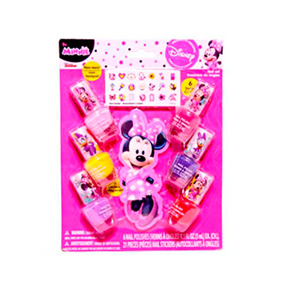 Disney Minnie Set 6 Esmalte+Lima+Sticker