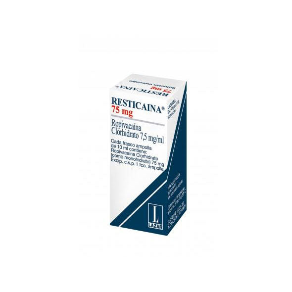 Resticaina 75Mg Ia-Sc  Frasco Ampollas 10Ml Ropivacaina