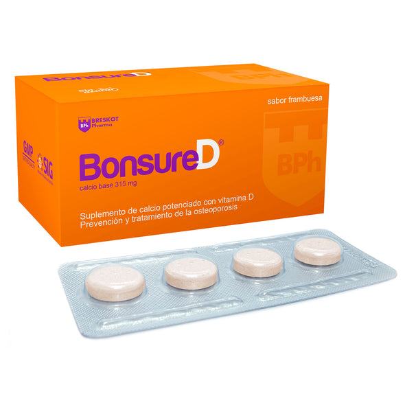 BONSURE D  COMPRIMIDOS MASTICABLES CALCIO VITAMINA D3
