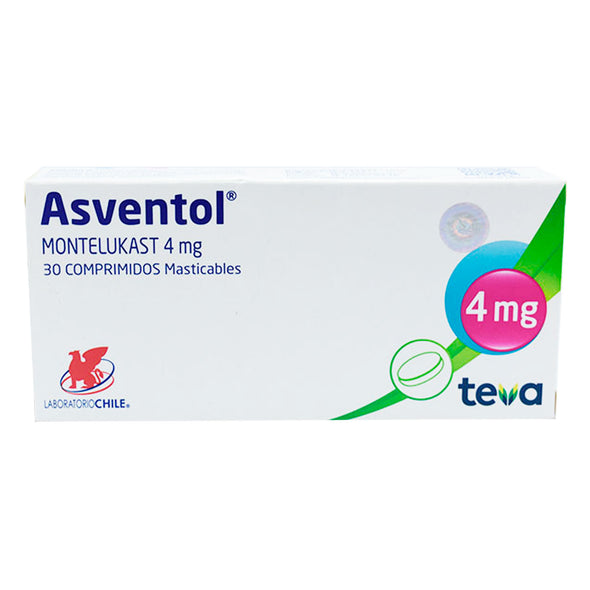 ASVENTOL 4MG  COMPRIMIDOS MASTICABLES MONTELUKAST