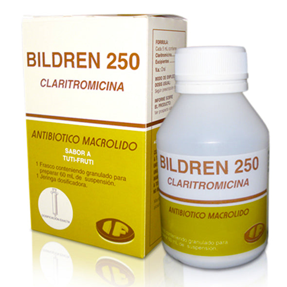 Bildren 250Mg 5Ml Suspension X 60Ml Claritromicina