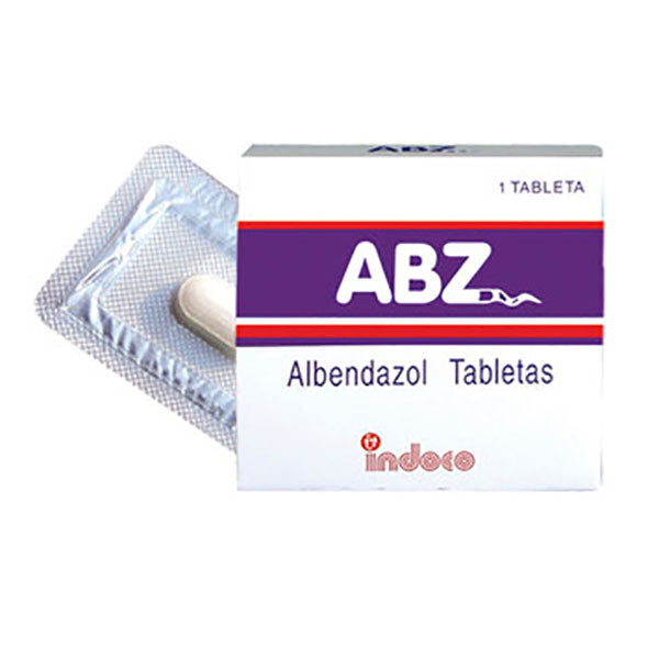 ABZ 400MG X 1 TABLETAS MASTICABLE ALBENDAZOL