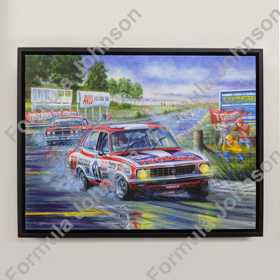 Brockys First Bathurst Victory Framed Canvas