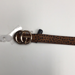Black and Brown Animal Print Belt