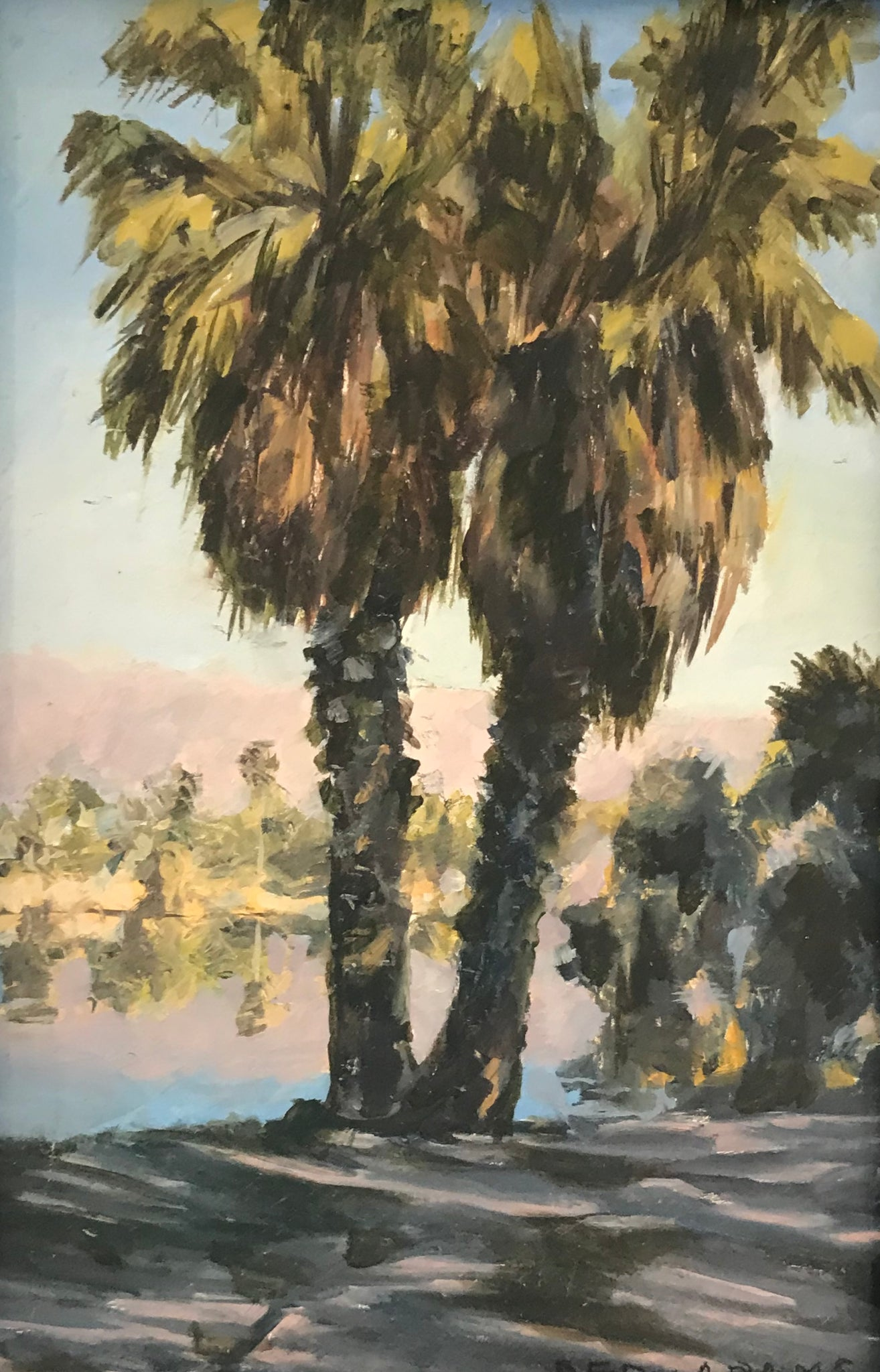 Amelia Island Palms Painting | Fern and Dina's Gallery & Gifts
