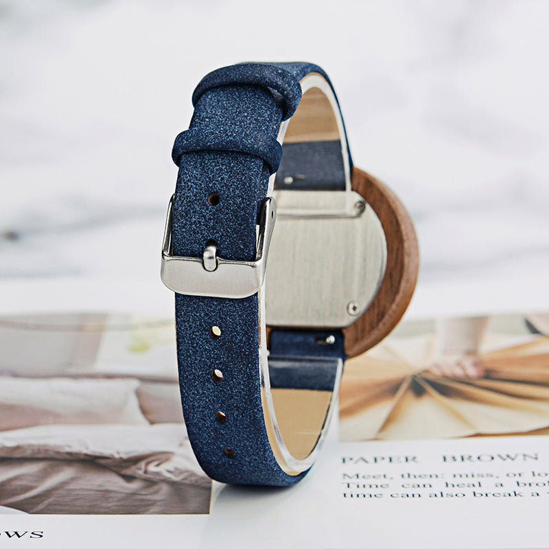 Wooden Leather Watches for Ladies