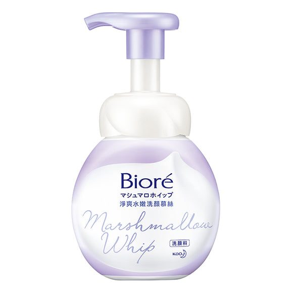 BIORE MARSHMALLOW WHIP FACE MOUSSE CLEANSER 160ml - GREEN TEA REFRESHING