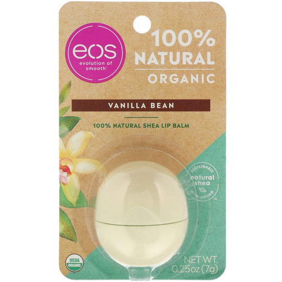 eos EVOLUTION OF SMOOTH 100% NATURAL ORGANIC SHEA LIP BALM 7g - VANILLA