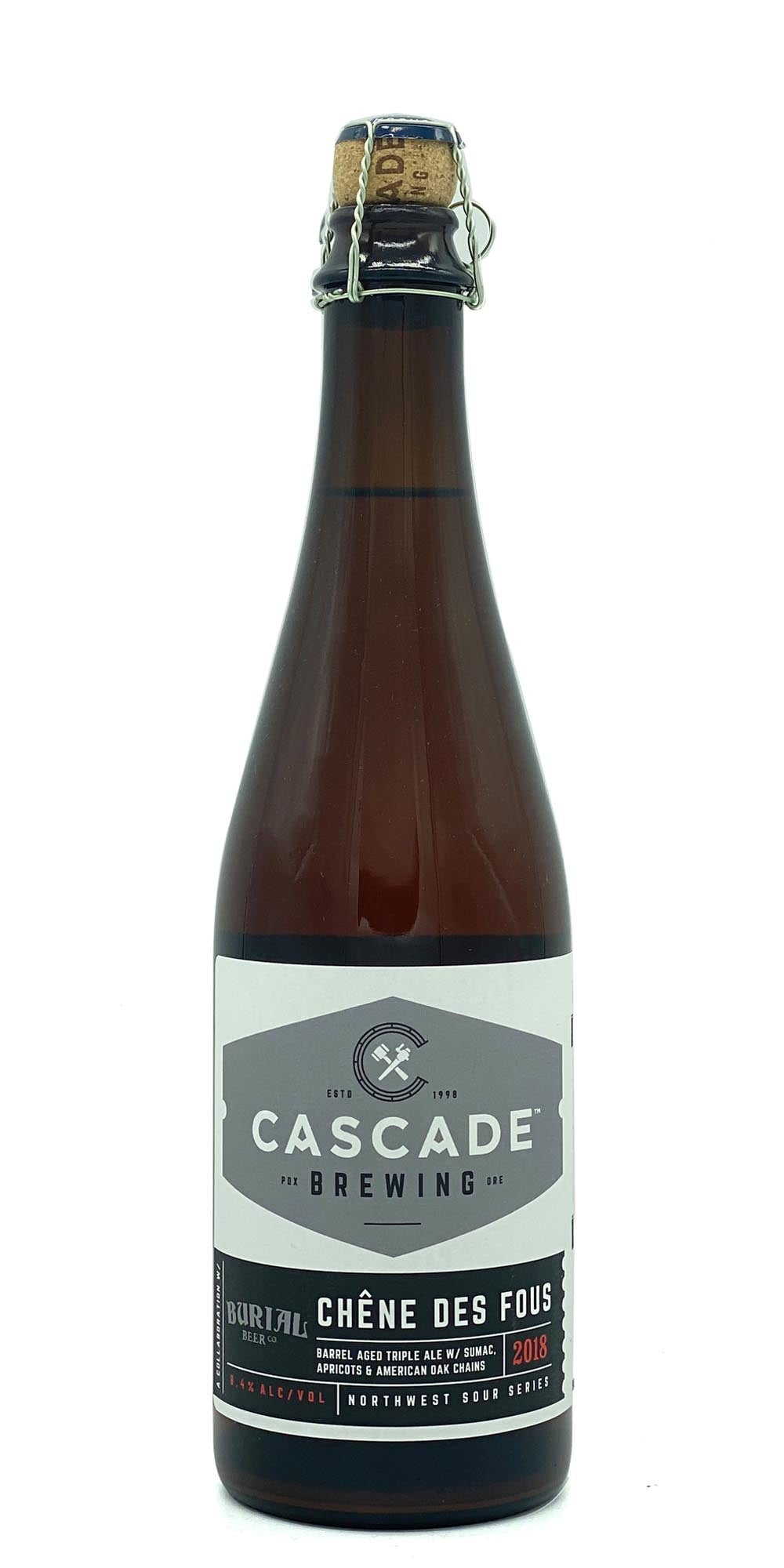 Cascade Brewing / Burial Beer Co. - Chene des Fous 2018 - Drikbeer - Order Craft Beer Online