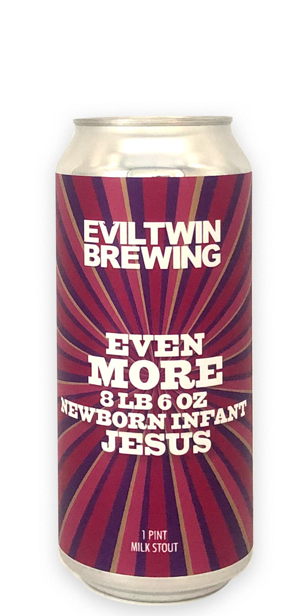 Evil Twin Brewing - Even More 8lb 6oz Newborn Infant Jesus - 473ml - Drikbeer - Order Craft Beer Online